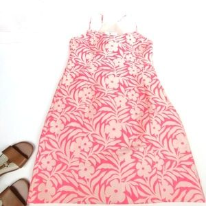 J crew factory jacquard floral tank dress